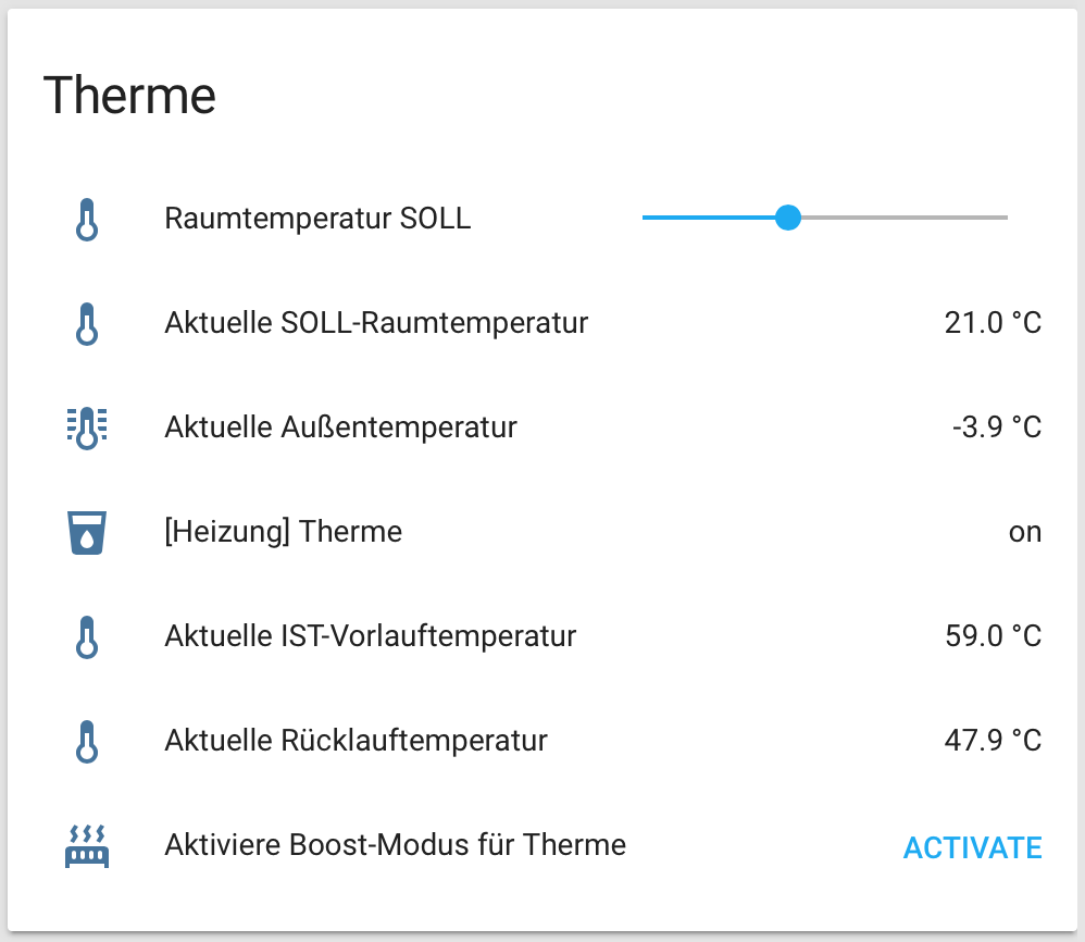 Atmospheric conditions based heating control for Home Assistant with